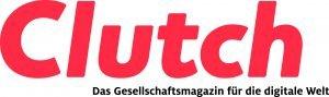 Clutch-Logo farbig mit Claim