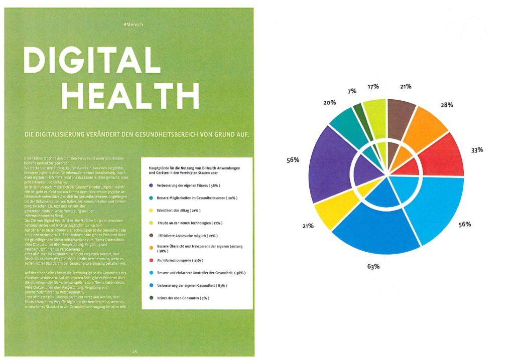 Luca Schleiss und Linda Hatje zeigen auf, wie die Digitalisierung den Gesundheitsbereich verändert.