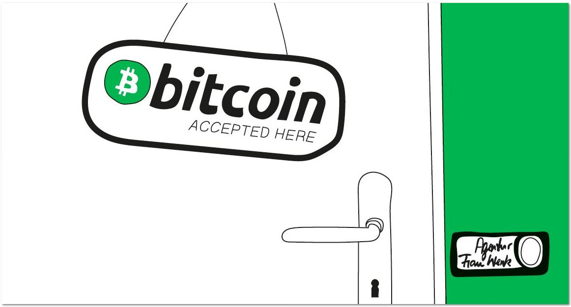 Frau Wenk akzeptiert Bitcoin