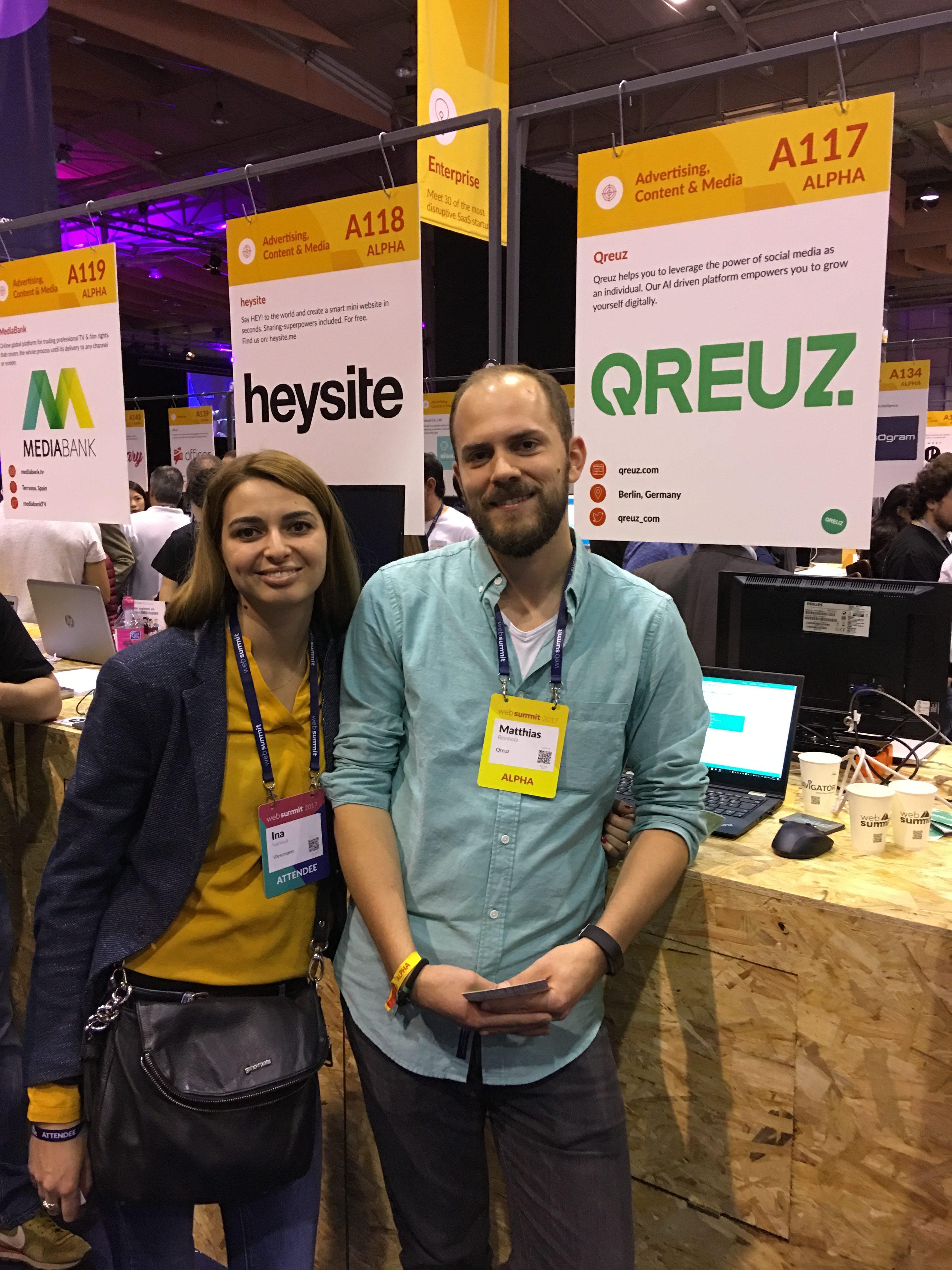 Das Start-up Qreuz ist zufrieden mit der Investition in den Stand
