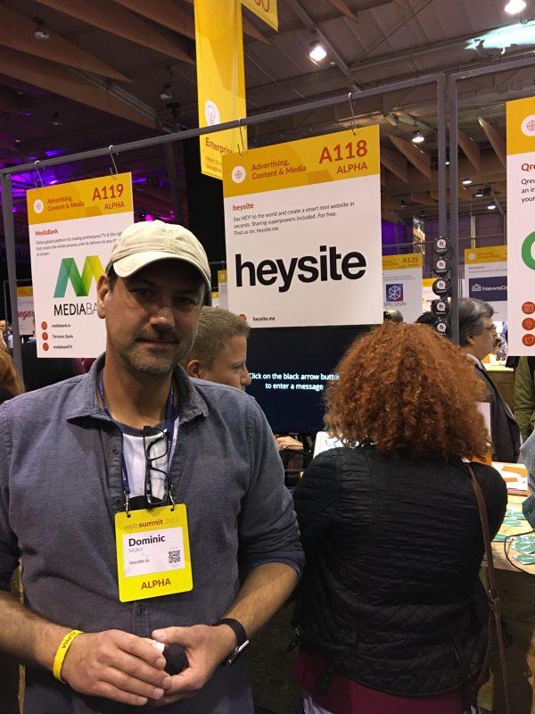 Gründer Dominic von Heysite präsentiert seine Sharing-Superpower