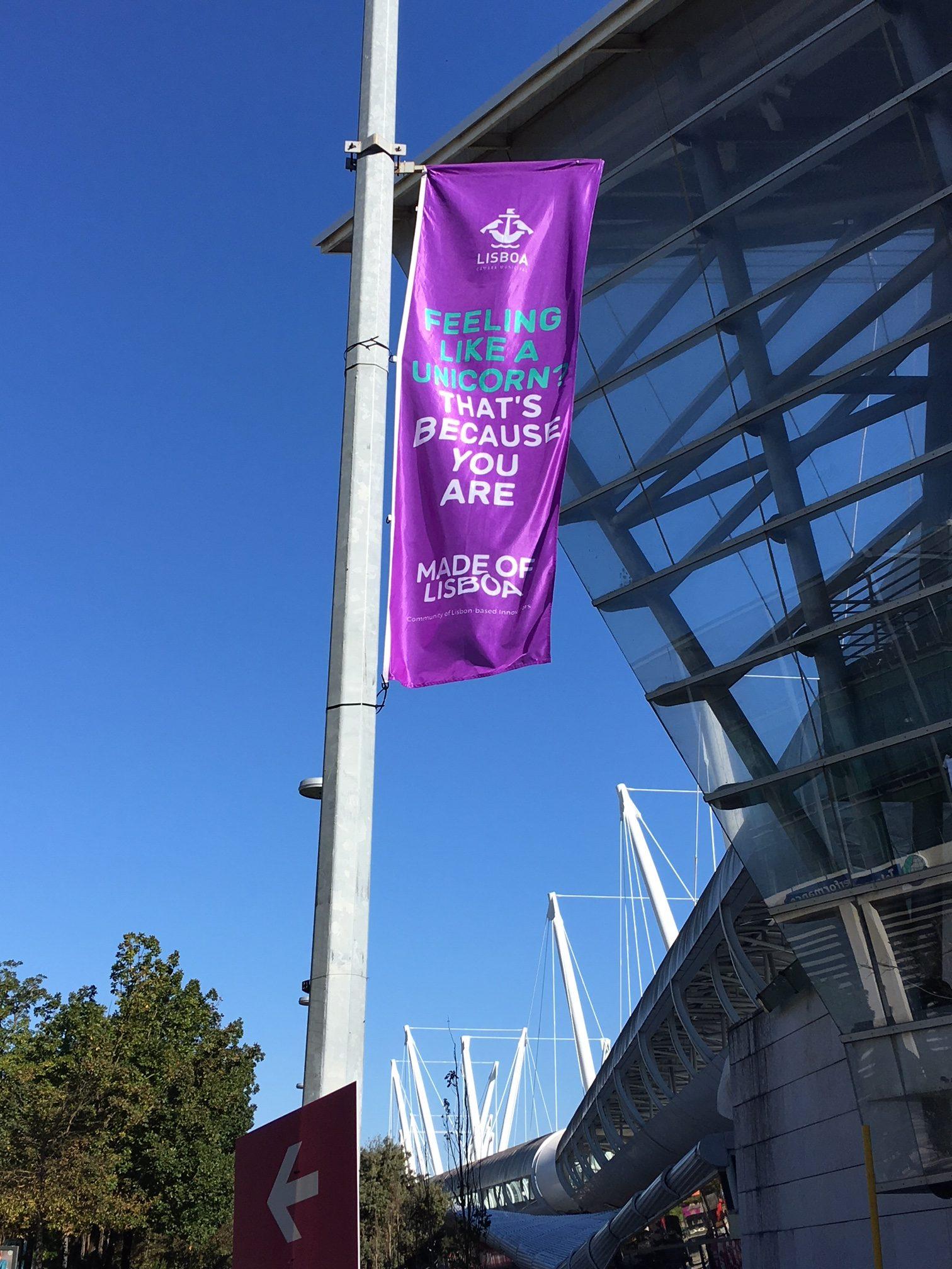 Ganz Lissabon stand während des Summit in Zeichen des Tech