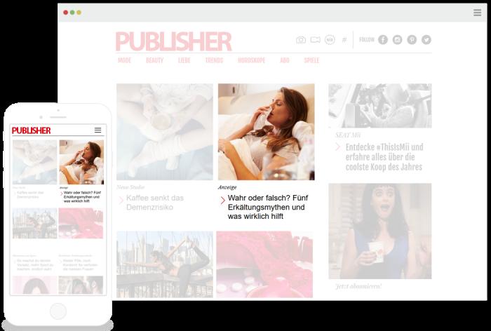 Während Bannerwerbung vom Nutzer kaum noch beachtet wird, erblühen native Werbeformate, die an die Umgebung des Publishers angepasst sind (Bild: Seeding Alliance)