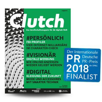 Clutch Magazin ist nominiert für den International deutschen PR-Preis der DPRG 2018