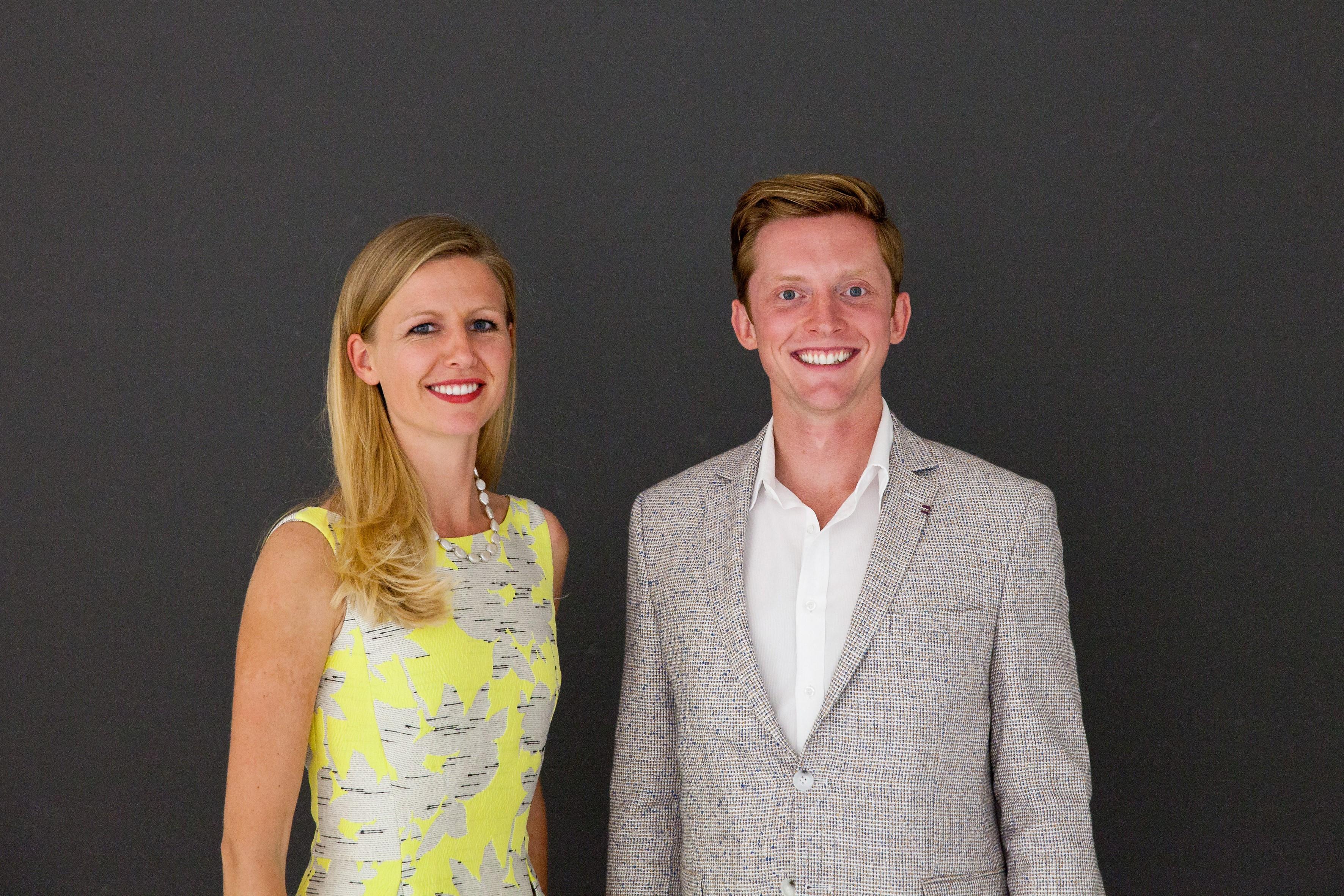 Melina Ex und Graham Majorhart, die Gründer von Carby Box