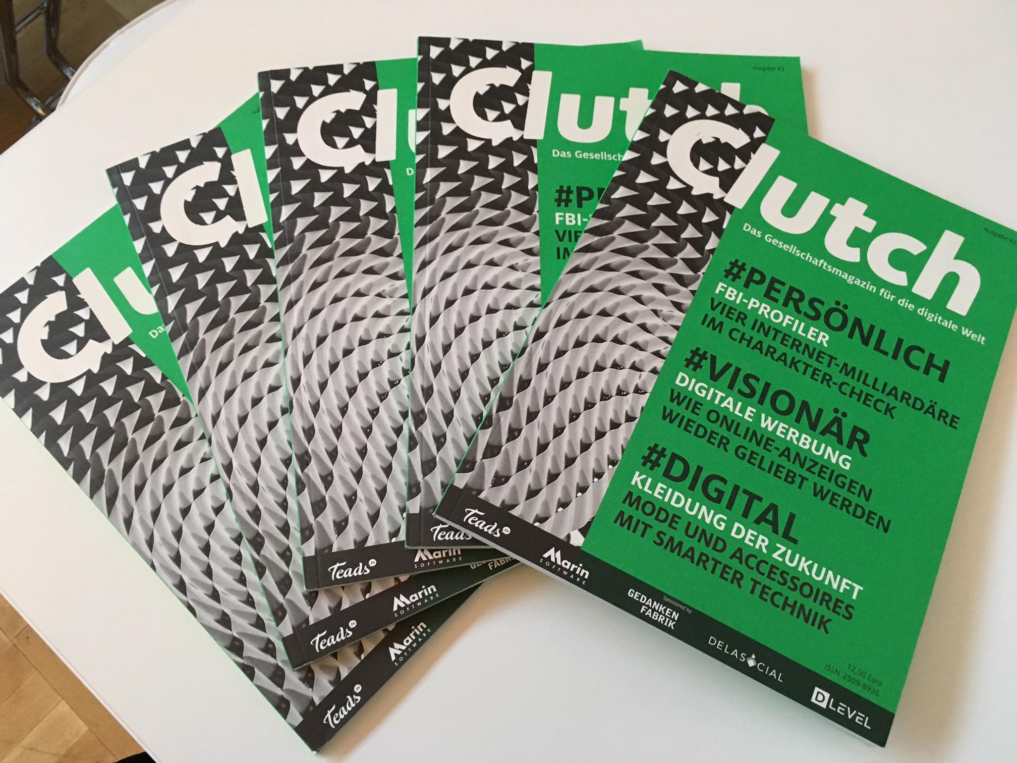 Die zweite Print-Ausgabe von Clutch erschien in einer Auflage von 5.000 Exemplaren