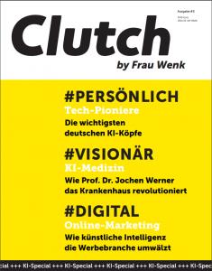 Cover der Clutch-Sonderausgabe zum Thema KI, Juli 2019