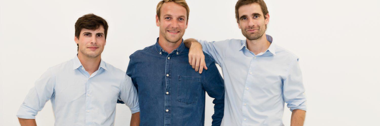 Die Gründer von Back Market: Quentin Le Brouster, Thibaud Hug de Larauze und Vianney Vaute (v.l.) (Bildcredit: Back Market).